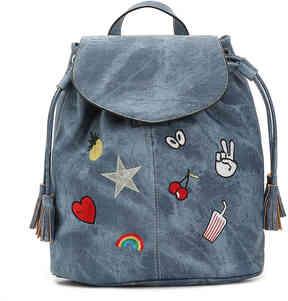 Women's Bruit Patchwork Backpack -Light blue