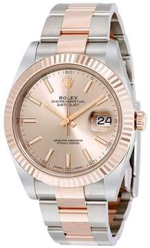Rolex Datejust 41 Sundust Dial Steel and 18K Everose Gold Men's Watch