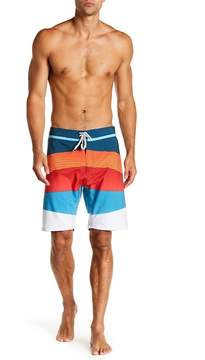 Burnside Geometric Stripe Stretch Boarshorts