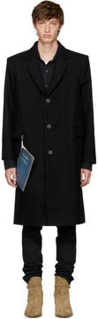 Enfants Riches Deprimes Black Wool Stranger Overcoat