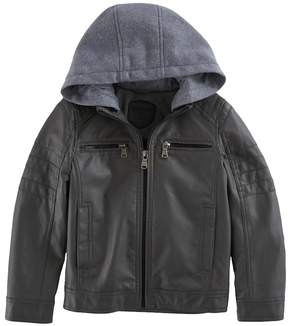 Urban Republic Boys 4-7 Quilted Knit Hood Midweight Jacket