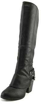 American Rag Aeboni Women Round Toe Leather Black Mid Calf Boot.
