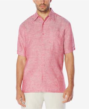Cubavera Men's Crosshatch 100% Linen Short-Sleeve Shirt