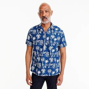 J.Crew Wallace & Barnes short-sleeve shirt in leaf block print