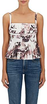 Brock Collection Women's Peplum Floral Cotton Blouse