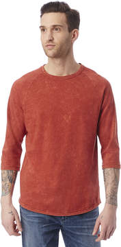 Alternative Apparel Denim Wash Raw Edge Raglan T-Shirt