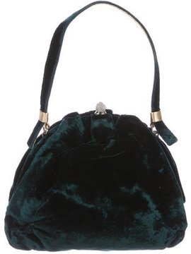 Dolce & Gabbana Velvet Evening Bag - GREEN - STYLE