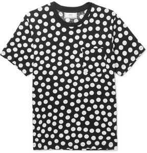 Ami Slim-Fit Polka-Dot Cotton-Jersey T-Shirt