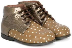 Pépé star pattern lace-up boots