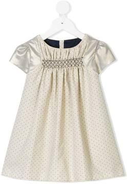 La Stupenderia polka dot contrast sleeve dress