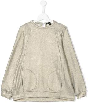 European Culture Kids metallic sweatshirt