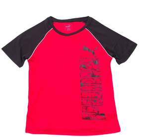 Puma Kids Boy's Side Logo Active T-Shirt Medium (10-12) Star Red