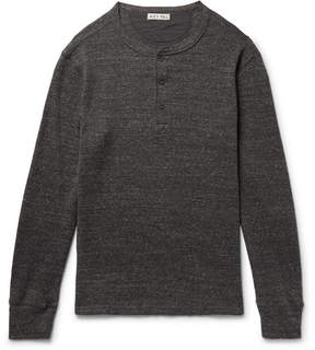 Alex Mill Waffle-Knit Mélange Cotton Henley T-Shirt