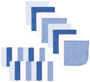 Luvable Friends Blue & White 24-Piece Washcloth Set