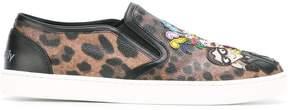 Dolce & Gabbana London designer's patch slip-on sneakers
