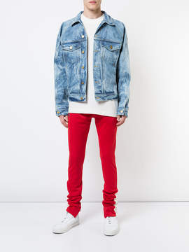 Fear Of God Blue bleached effect jacket