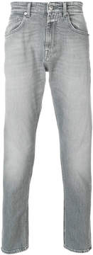 Closed faded effect jeans