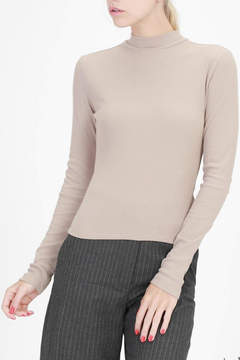 Double Zero High Neck Ribbed Top