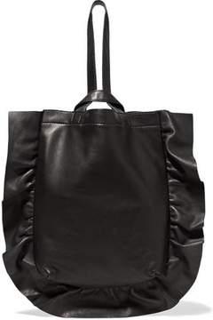 Loeffler Randall Ruffled Leather Wristlet Bag