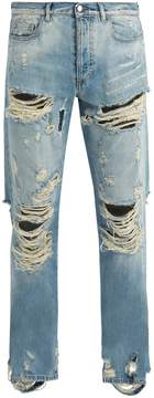 Faith Connexion Distressed straight-leg jeans