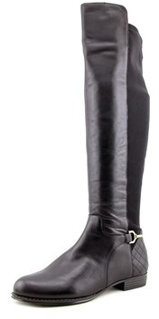 Isaac Mizrahi Tory Women W Round Toe Leather Over The Knee Boot.