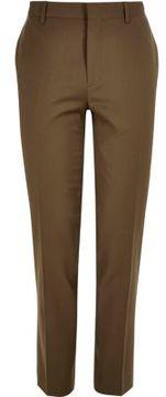 River Island Mens Brown skinny suit pants