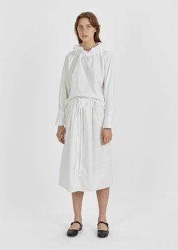 Atlantique Ascoli Drawstring Midi Skirt White Size: OS