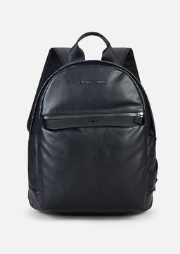 Emporio Armani python print nappa and eco-leather backpack