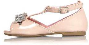 River Island Mini girls pink embellished shoes
