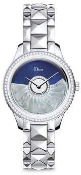 Christian Dior VIII Grand Bal Limited-Edition Montaigne Diamond, Alligator & Stainless Steel Automatic Wat