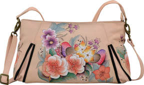 Anuschka Anna By ANNA by Hand Painted Wide Crossbody Satchel 8306 (Women's)