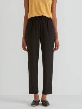 Frank and Oak Pull On Satin Back Crepe Pant in True Black