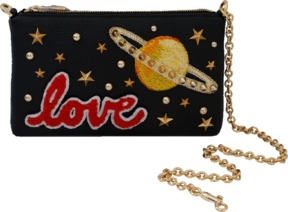 DOLCE & GABBANA Embroidered Love Space Clutch