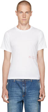 Martine Rose White Rose Logo Slim T-Shirt
