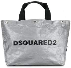 DSQUARED2 logo shopping tote bag