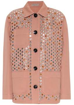 Bottega Veneta Embellished cotton-blend jacket