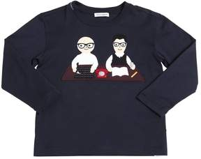 Dolce & Gabbana Designers Patch Cotton Jersey T-Shirt