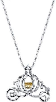 Disney Two-Tone 10K Gold and Silver Cinderella Carriage Pendant Necklace