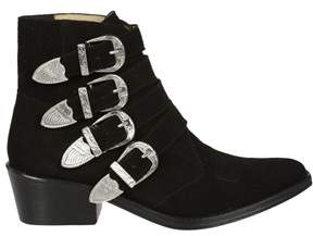 Toga Pulla Women's Black Suede Ankle Boots.