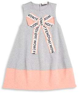 Fendi Little Girl's and Girl's Bow Dress