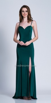 Dave and Johnny Low Cut Out Back Spaghetti Strap Evening Dress