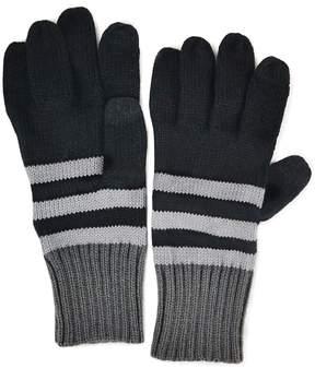 Muk Luks Ribbed Striped Gloves - Men