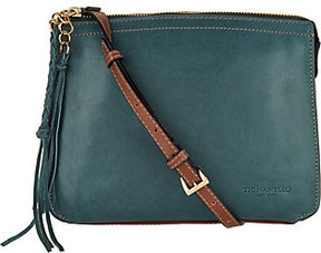 Tignanello As Is Vintage Leather Crossbody - Carson