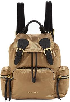 Burberry Medium Rucksack Satin Backpack - GOLD - STYLE
