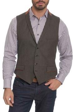 Robert Graham Men's Grenville Herringbone Wool Vest