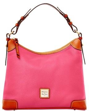 Dooney & Bourke Pebble Grain Hobo Shoulder Bag - HOT PINK - STYLE
