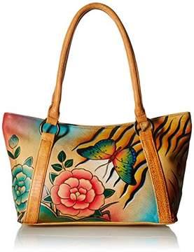 Anuschka Anna by Genuine Leather Tote Shoulder Bag | Hand-Painted Original Artwork |