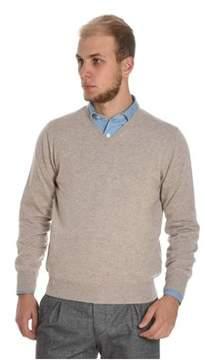 Cruciani Men's Beige Cashmere Sweater.