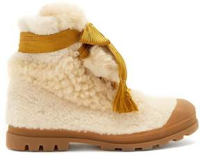 Chloé Parker lace-up shearling ankle boots