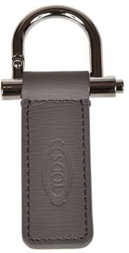Tod's Men's Grey Leather Key Chain.